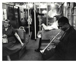 music, black and white, and jazz image