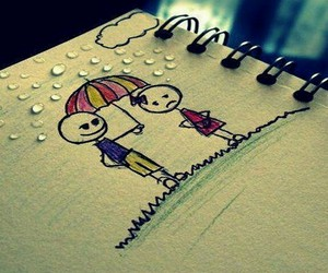 rain and cute image
