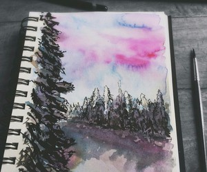 art, dibujos, and bosque image