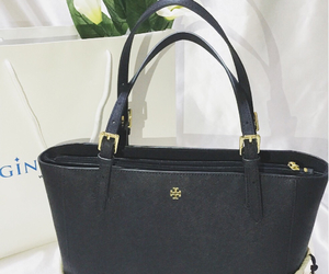 bag, navy, and torry burch image