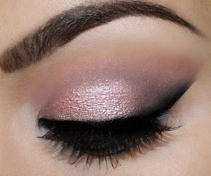 makeup, beautiful, and eyebrows image