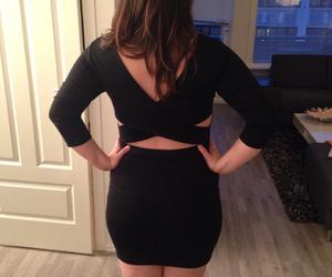 back, dress, and black image
