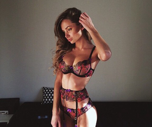 girl, sexy, and lengerie image