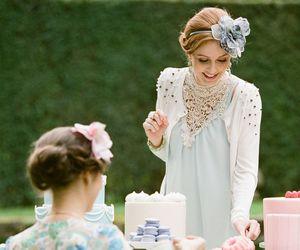 beautiful, retro, and tea party image