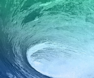 waves, blue, and water image