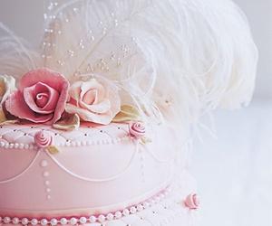 cake, pink, and beautiful image