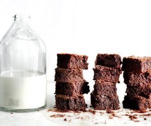 milk, yummy, and food image