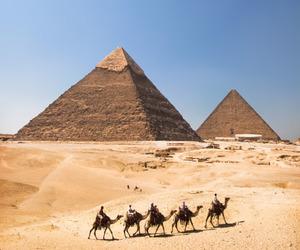 egypt, pyramid, and sand image