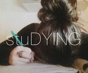 studying, school, and dying image