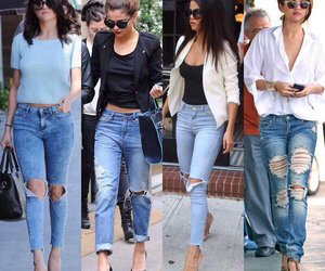 selena gomez, jeans, and style image