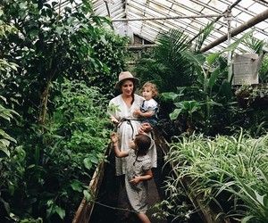 daughter, dress, and greenhouse image