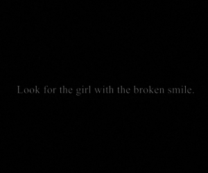 girl, broken, and smile image