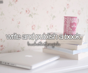 book, goals, and bucket list image