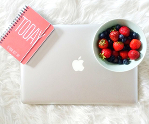 apple, fruit, and strawberry image