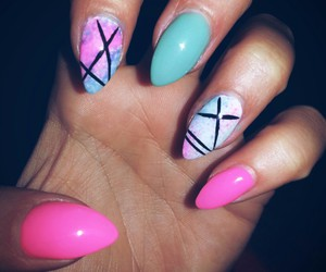 fashion, mint, and nails image