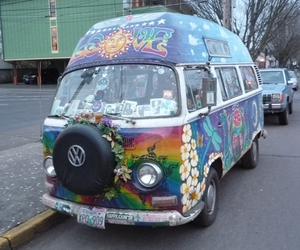 hippie, hippies, and hippie van image