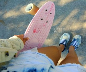 skate, summer, and vans image
