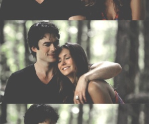 love, tvd, and delena image