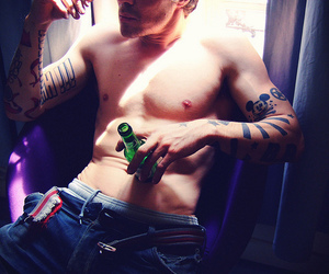 beer, drink, and tattoo image