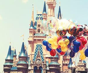 disney, disneyland, and balloons image