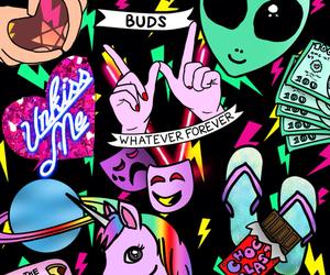 wallpaper, alien, and unicorn image
