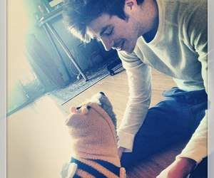 grant gustin, dog, and barry allen image