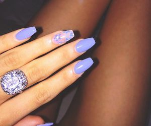 nails, ring, and flowers image