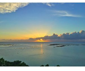 beach, sunsets, and guam image