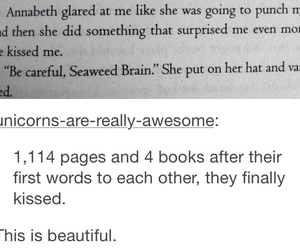 kiss, percy jackson, and percabeth image
