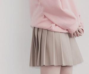 kfashion, pleated skirt, and kstyle image