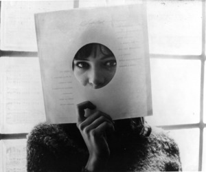 anna karina and black and white image