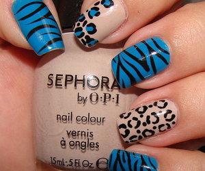 animal print, nails, and style image