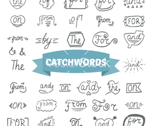 doodle, letters, and words image