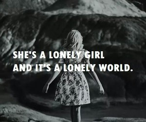 girl, lonely, and black and white image
