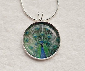 peacock feather, etsy jewelry, and peacock necklace image