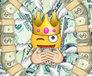 emoji, money, and wallpaper image