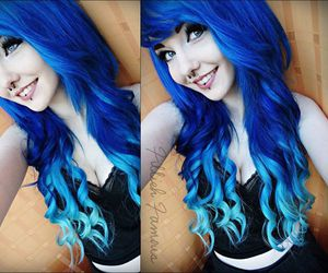 alt girl and blue hair image