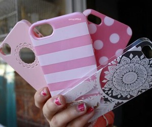 girly, iphone, and pink image