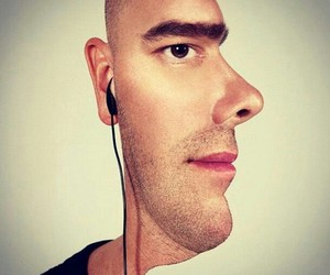 illusion, funny, and man image