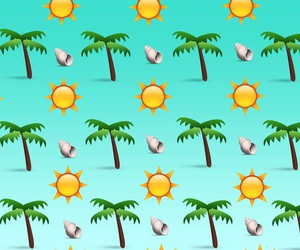 background, beach, and sun image
