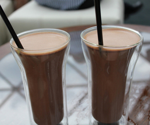drink, chocolate, and food image