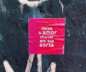 amor, mensagem, and rua image