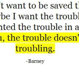 barney, how i met your mother, and trouble image