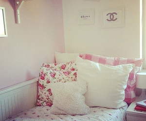 bedroom, chanel, and floral image