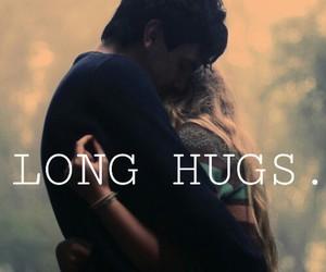 boy and girl, hug, and cute image