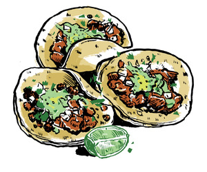 tacos, food, and mexico image
