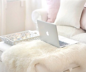 bedroom, macbook, and white image