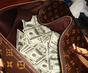 money, Louis Vuitton, and bag image