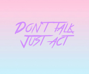 act, just, and pink image