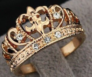 gold, diamonds, and ring image